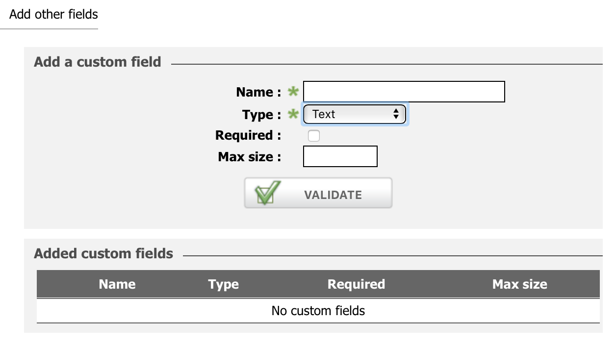 adding custom field in contact form